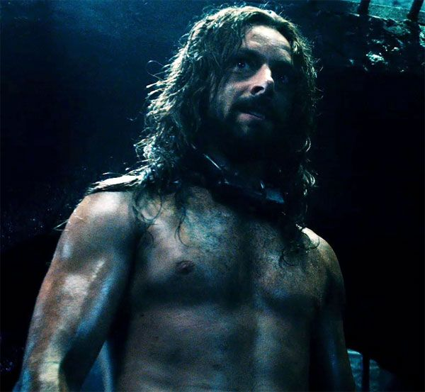 Michael Sheen as Lucian in Underworld (he looks so different with long hair, facial hair and no shirt)