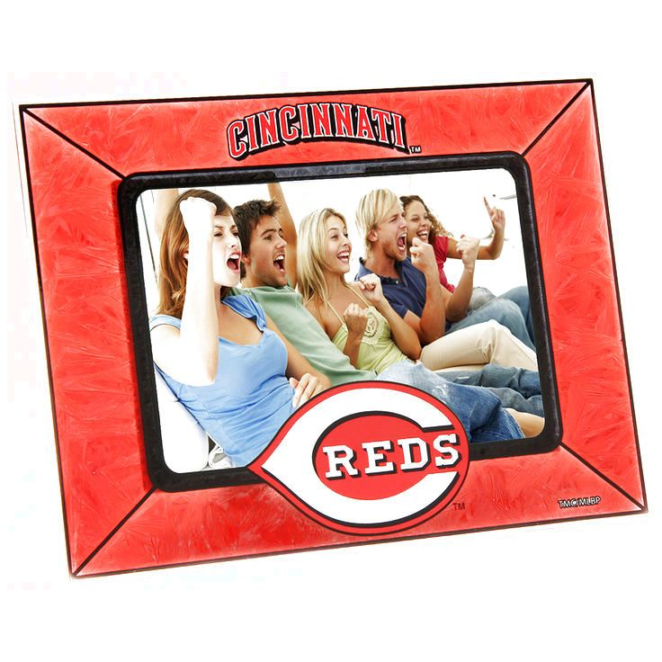 Cincinnati Reds Horizontal Art Glass Frame - $15.19