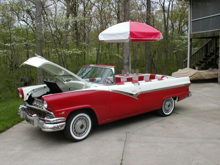 1956 Ford convertible becomes bbq grill & diner - pic 1 of 3