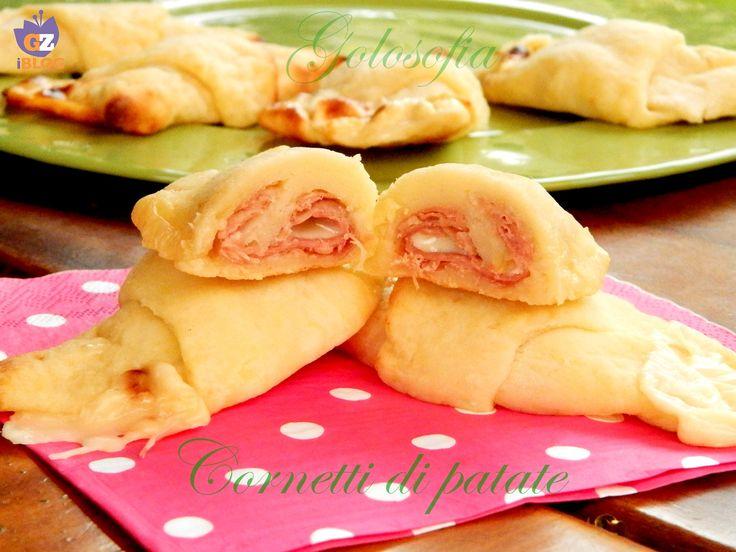 Cornetti di patate con prosciutto e mozzarella, golosissimi