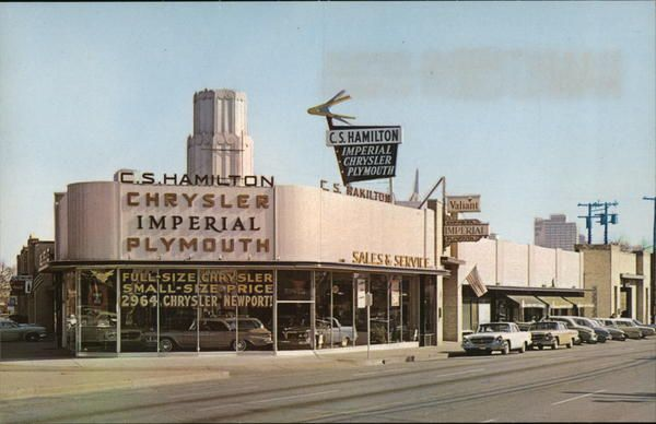 C S Hamilton Chrysler Plymouth Dealership Dallas Texas Car Dealership Dealership Vintage Trucks