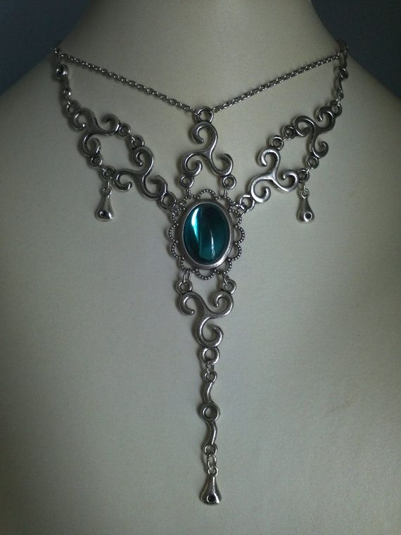 NECKLACE Medieval/Victorian/Renaissance/Wedding/Celtic/Ren/Edwardian/Christmas/Holidays/ COLOR CHOICE