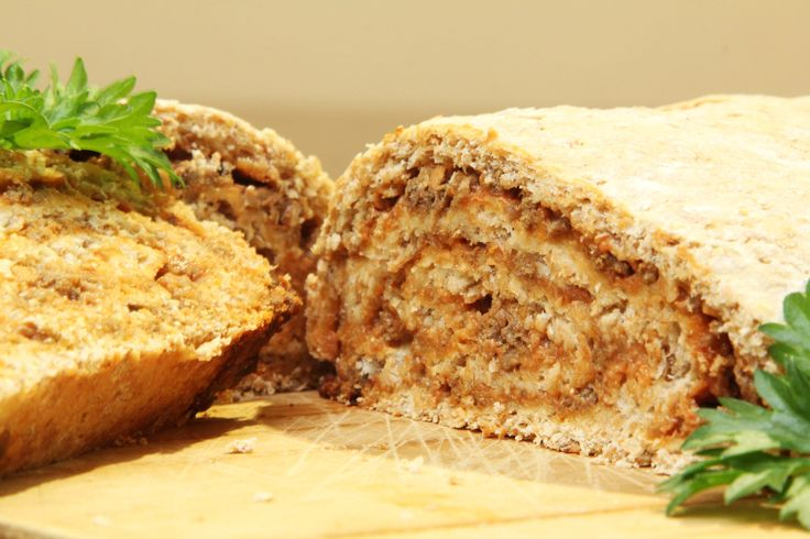 Meaty bread loaf - With left over mince!