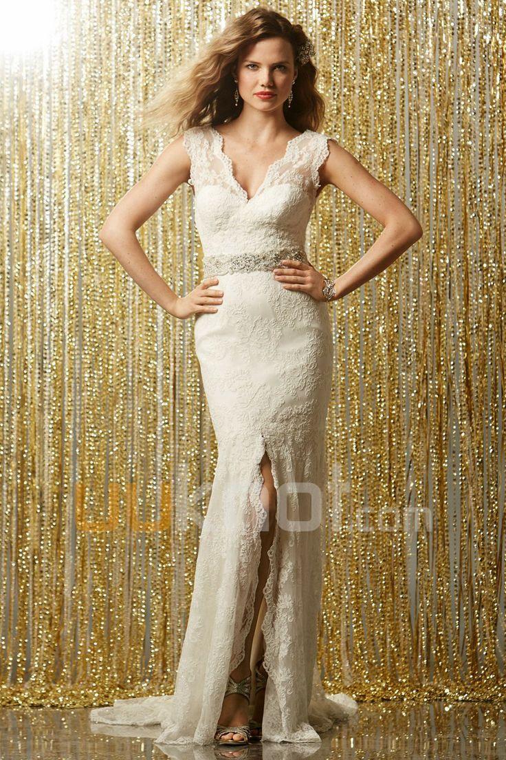 50 besten Sheath/ Column Wedding Dresses Bilder auf Pinterest ...