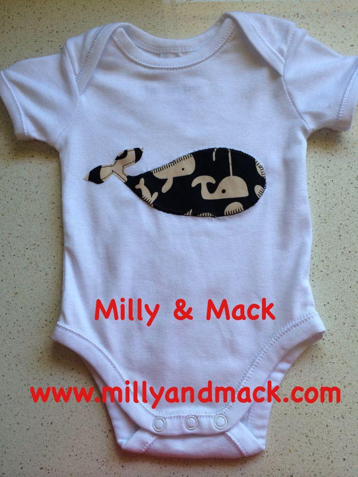 Milly and Mack appliquéd Onesie