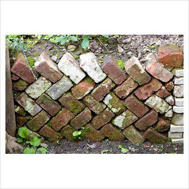 German garden, recycled retaining brick wall – use… – #brick #garden #German #…