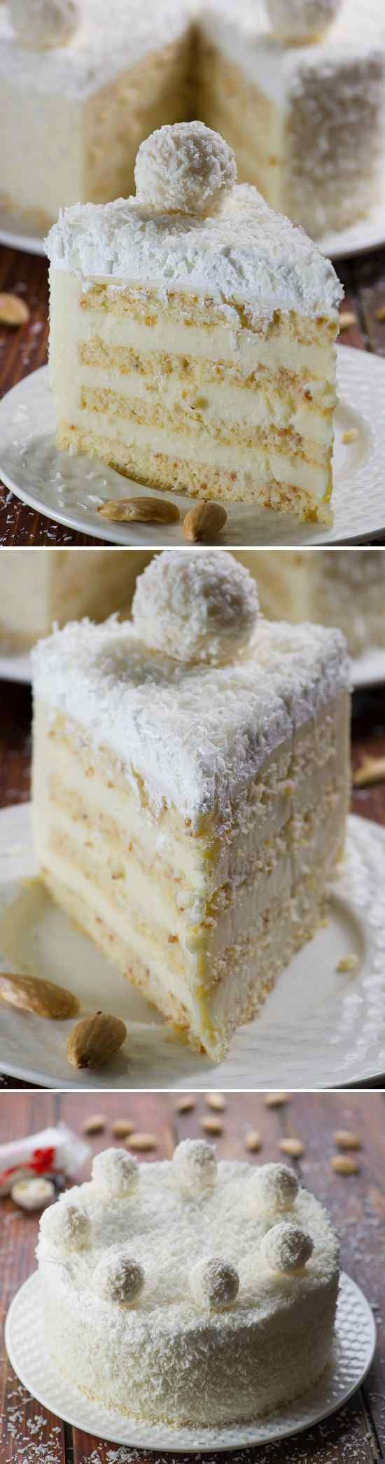 Almond coconut cake is delicious blend of almond, coconut, white chocolate and lemon flavors. It has almond sponge, white chocolate- …