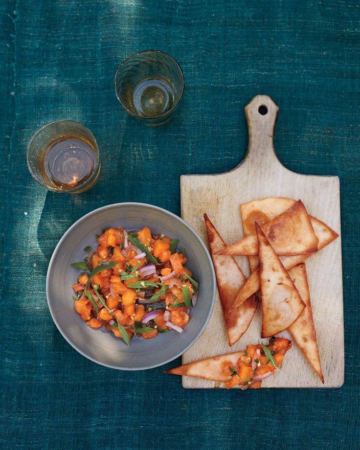 Apricot Salsa with Lemon Verbena