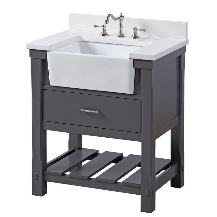 Skalski 30 Single Bathroom Vanity Set 30 Inch Bathroom Vanity Farmhouse Vanity Single Bathroom Vanity