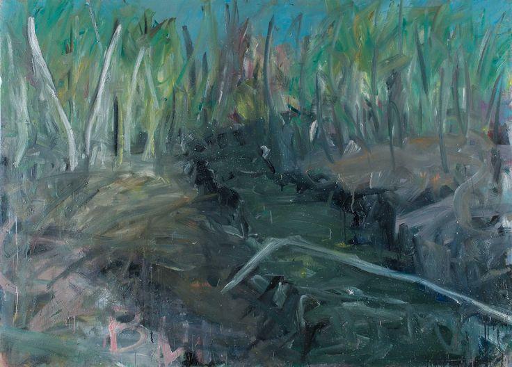 Tomáš Bambušek | Stará strouha, 195x140cm, olej na plátně 2013.Mažice, Borkovická blata #madeinBUBEC