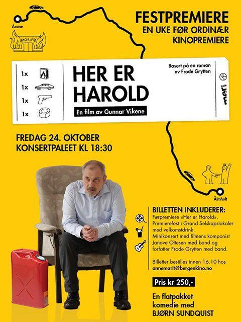 """HERE IS HAROLD Tipica commedia scandinava, che parte dalla macrosociologia – le multinazionali che soffocano le piccole imprese – per arrivare alla microsociologia, con un fitto sottobosco di famiglie disfunzionali e di conflitti generazionali. Chi apprezza lo humor dell'understatement, la fotografia desaturata e i ritmi garbati anche questa volta non rimarrà deluso. RSVP: """"Elling"""", """"Il mondo di Horten"""". Voto: 7,5."""