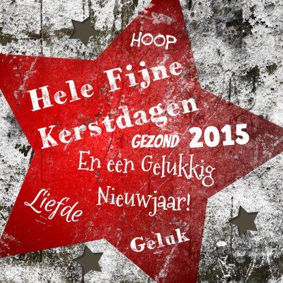 Een sfeervolle en stoere kerstkaart waarvan je de tekst en foto naar wens kan aanpassen. Te vinden op: https://www.kaartje2go.nl/kerstkaarten