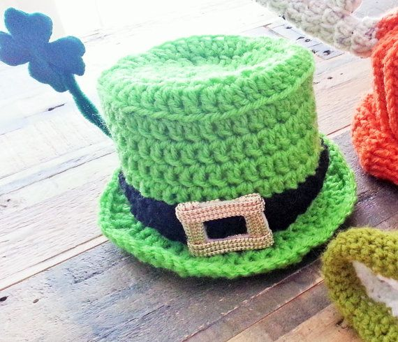 St Patrick's Day - St Paddy's Day - Shamrock Crochet Hat Pattern
