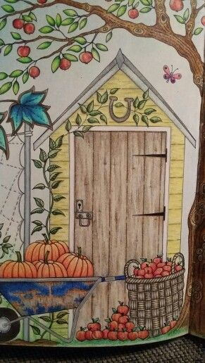 Secret Garden Coloring Book Close Up Colored By Dayna Brown Using Pencils 2015