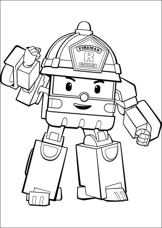 Robocar Poly para imprimir e colorir 13 | coloring | Pinterest ...