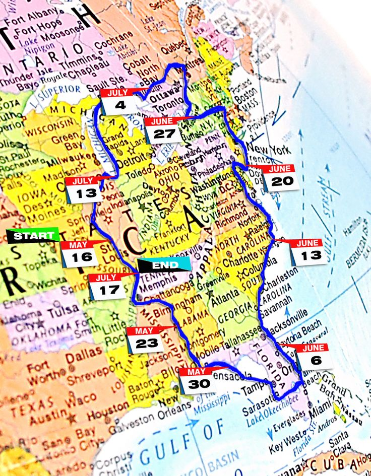 The Great Loop Route | for many boaters the great loop is a trip of a lifetime people save ...