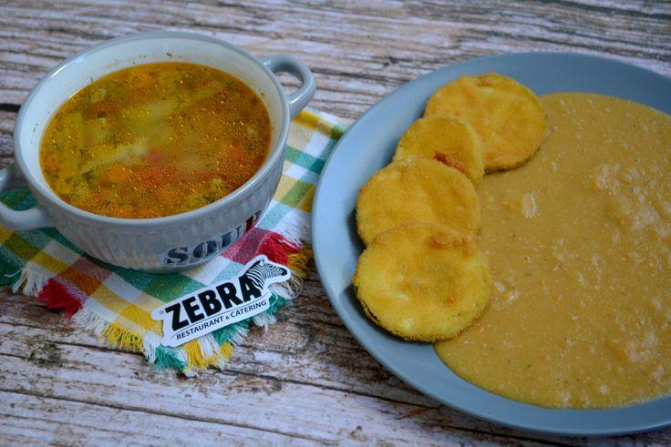 Meniul lacto-vegetarian Supă franţuzească 400 ml Dovlecel pane cu linte bătută 300 g