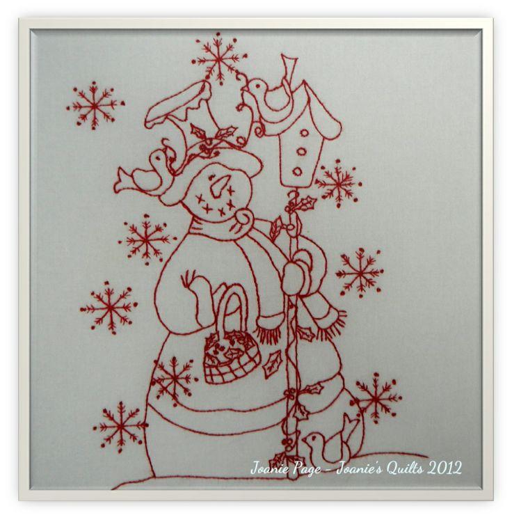 very cute redwork snowman! :)