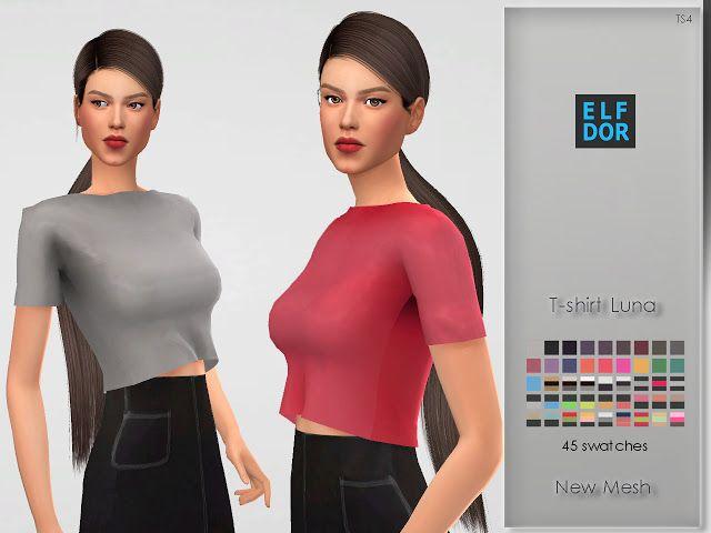 8b5faad787 Tshirt Luna | Sims | Sims, Sims 4, Sims 4 update