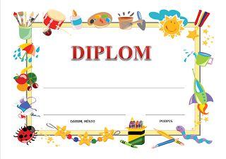 Diplom dětský tisknutelný zdarma