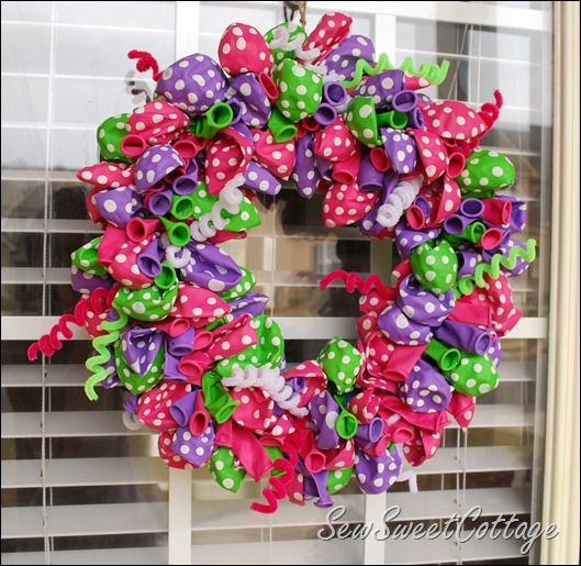 LOVE this Happy Birthday Wreath
