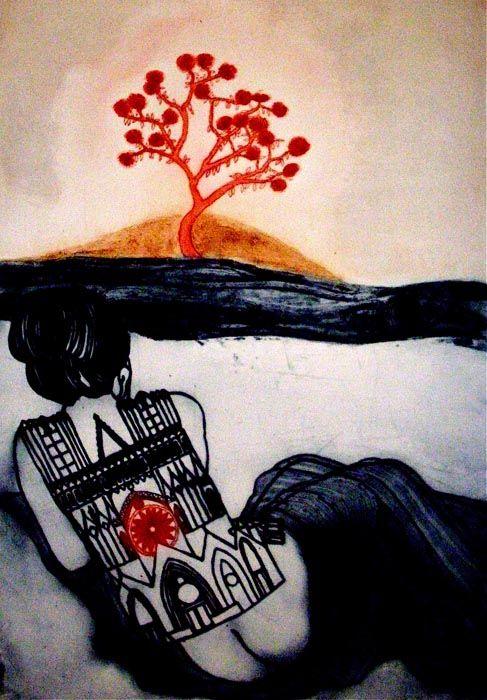 Wake by Mandy Renard - printmaker - Tasmanian artist