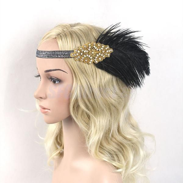 1000 Images About Black Fascinator On Pinterest: 1000+ Ideas About Flapper Headband On Pinterest