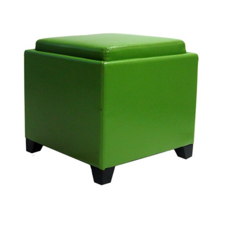Armen Living Contemporary Storage Ottoman with Tray - LC530OTLE