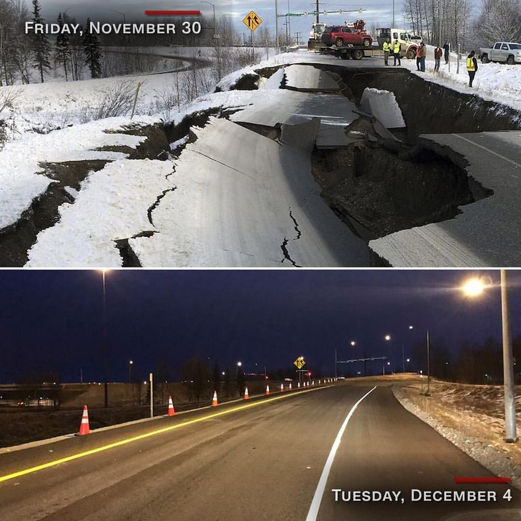 Friday's 7.0-magnitude earthquake ripped apart this road ...