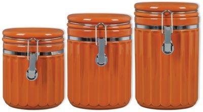 Montcrest 3pc canister set orange in spring big book pt 2 for Kitchen set orange