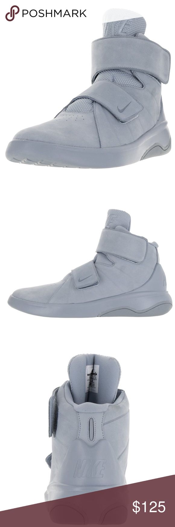 Nike Marxman Basketball Shoes Leather-And-Synthetic Rubber sole Luxurious leather upper offers a premium look with durable support One-piece midsole is lightweight and flexible Strap closures provides a locked-down fit Nike Shoes Athletic Shoes