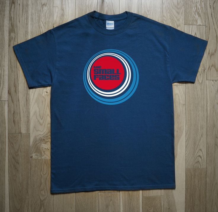 THE SMALL FACES T-Shirt Small Faces was a British musical group of the sixties. Although they were only together for four years, the musical legacy of the Small Faces in the mid to late sixties is considered as one of the most important into British mod and psychedelic music. Our shirt shows the logo of the band within a typical target mod but made with spiral forms influenced by psychedelic and op-art. #psychedelic #mod #sixties #rock #stevemarriott #RonnieLane #IanMcLagan #KenneyJones