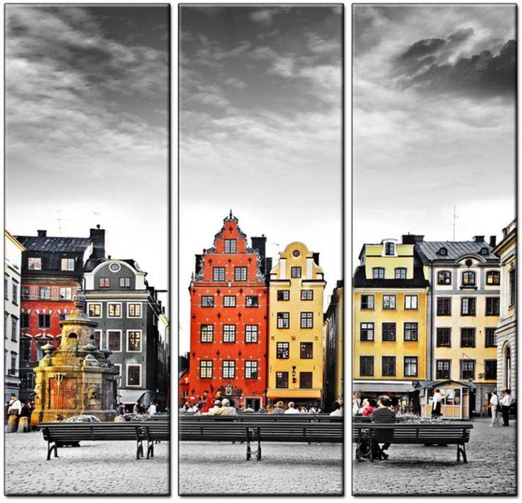 Модульная картина «модульные постеры Стокгольм, сердце Старого города, Швеция» под заказ с доставкой по РФ.