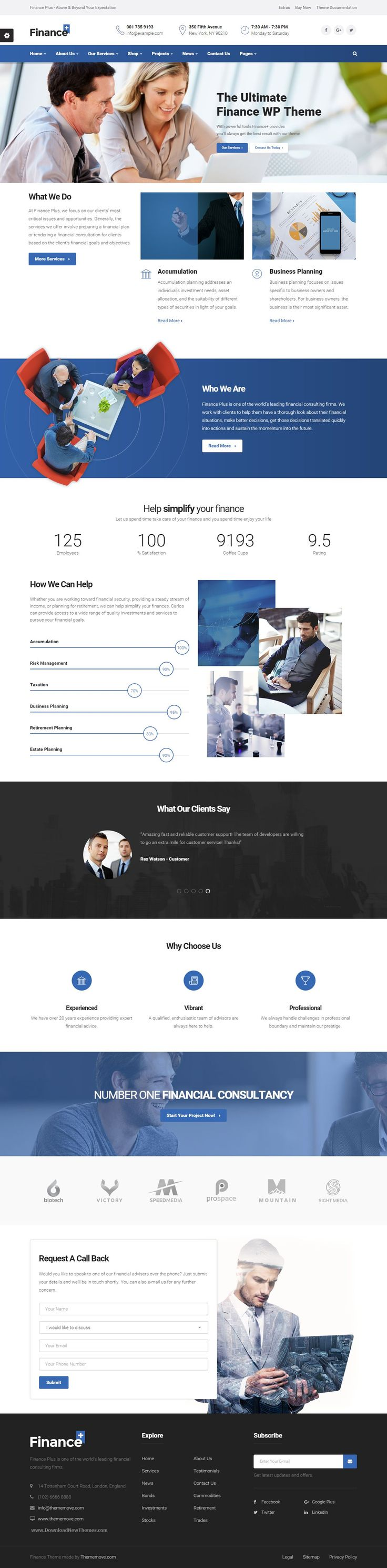 FinancePlus is a finance & business WordPress theme. It is specially designed for Business, Financial Advisor, Accountant, Law Firm, Wealth Advisor, Investment and general corporate website. This theme comes with super powerful page builder which allow you to create your site using drag drop ability. It comes with necessary features for your website such as blog, portfolio, testimonial, personnel, etc. #Financial #corporate #WordPress #Theme