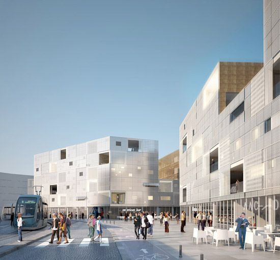 LAN architecture: collective housing units  begles, france