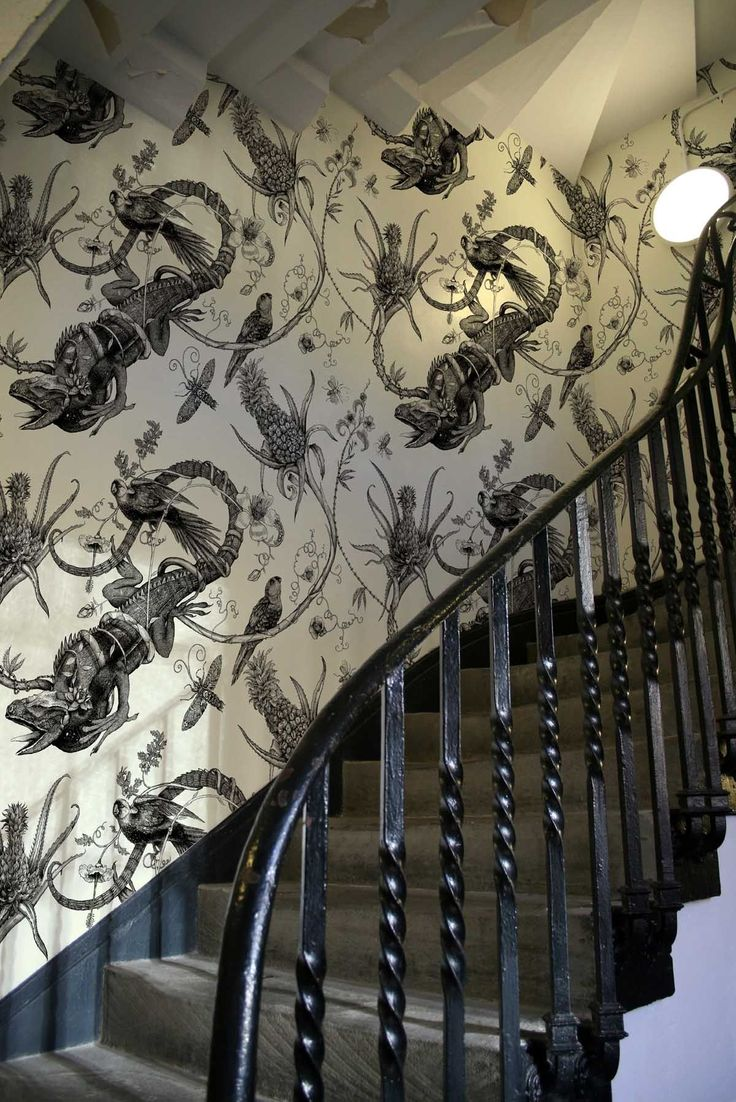 Timorous Beasties Wallcoverings - Iguana Superwide Used this pattern in my  powder room - so stunning!