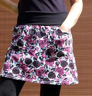 Beth Being Crafty: Upcycled Yoga Skirt
