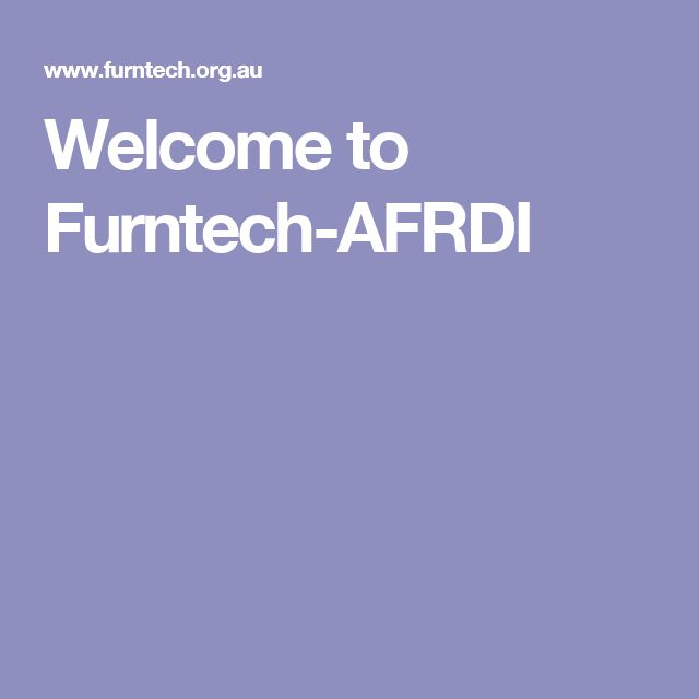 Welcome to Furntech-AFRDI