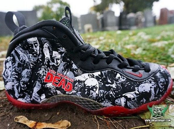 Someone Made Custom 'The Walking Dead' Nike Air Foamposite Ones
