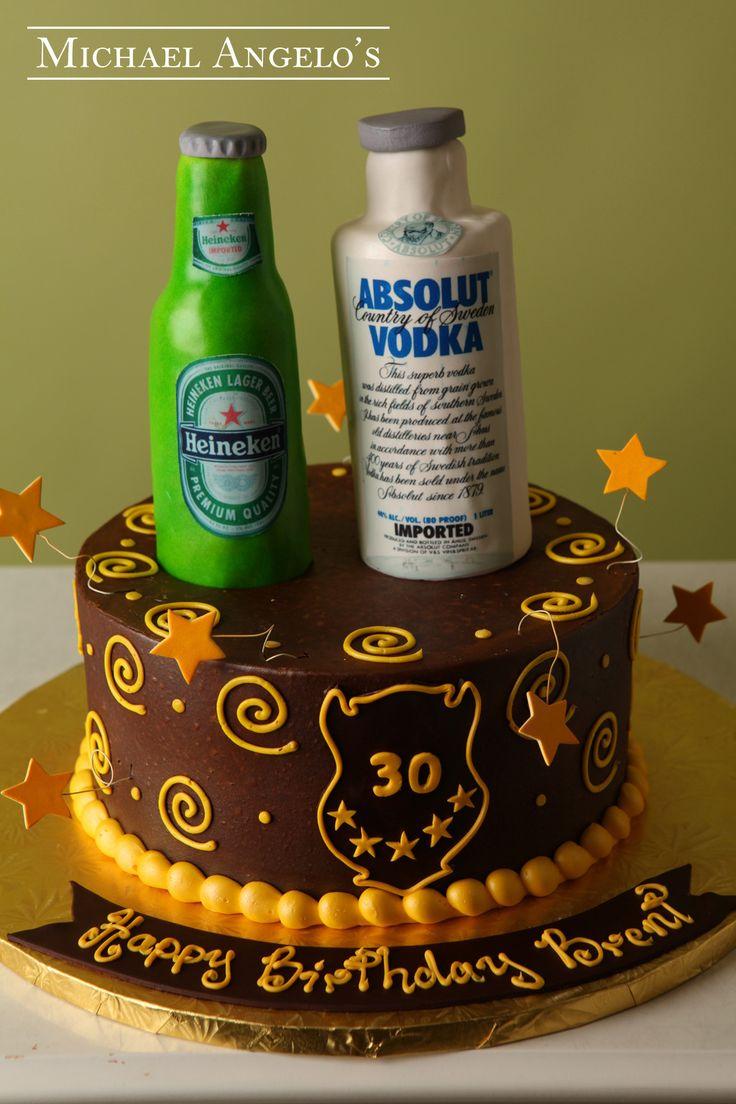 Heineken & Absolut #27Food This single tier round cake is ...