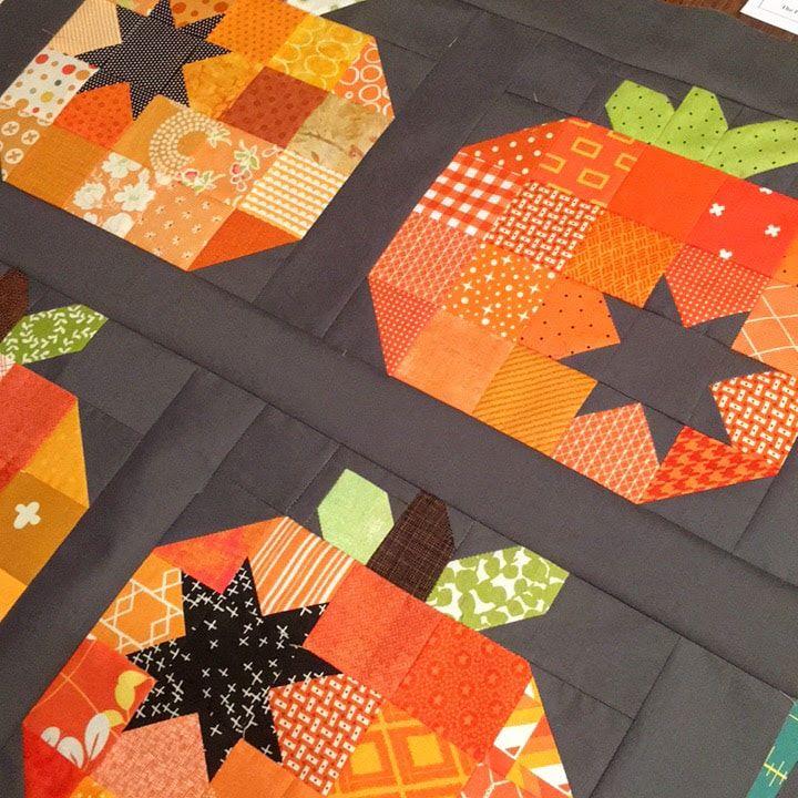 Happy October Halloween Quilt Patterns Pumpkin Quilt Pattern Fall Quilts