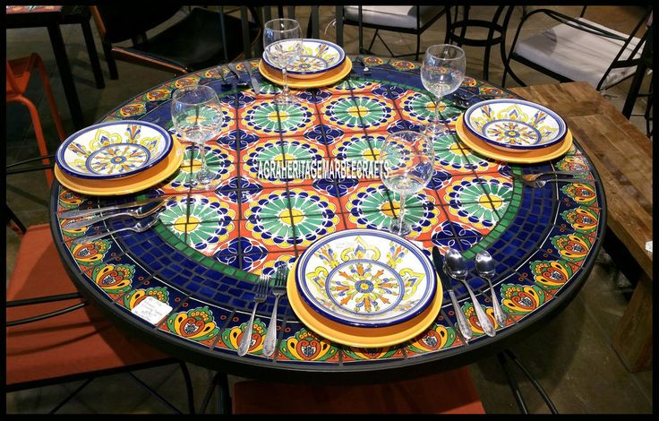 "54"" Designer Marble Restaurant Table Lapis Inlay Mosaic Living Room Decor H3916 #AgraHeritageMarbleCrafts #ArtsCraftsMissionStyle #Decorative #Marble #DiningTable #LIvingTable #FurnitureDecor #GardenTable #RestaurantDecor #Lapis #Mosaic #Inlaid #Designer #GiftDecor"