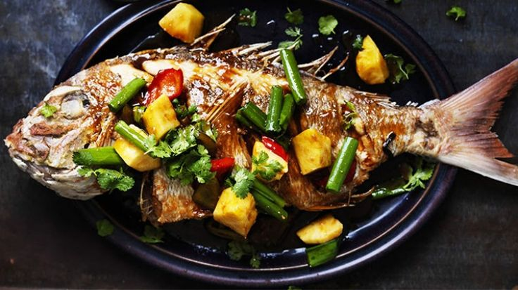 Crispy fried snapper with sweet and sour sauce
