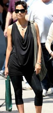 Easy casual with draped shirt and leggings