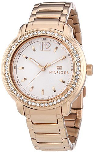 Tommy Hilfiger ThreeHand RoseGold Stainless Steel Womens watch 1781468 -- Click image to review more details.