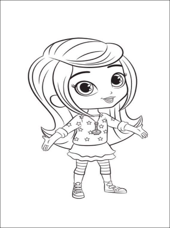 Dibujos para imprimir y pintar para niños Shimmer y Shine 7 | Para ...