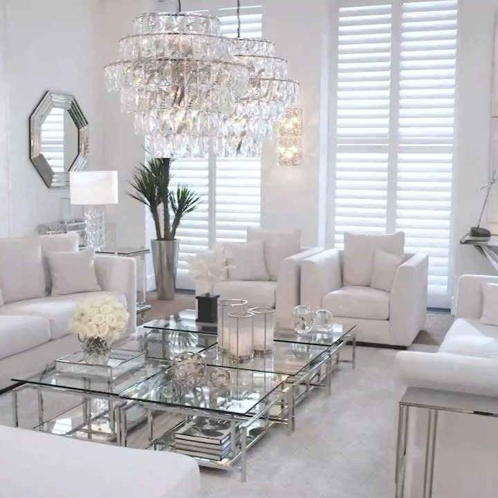 Eichholtz On Instagram Grandshowroom Allwhite Earlymornings Taylor Sofa Worldo Silver Living Room Decor Living Room Design Decor Glam Living Room Decor #silver #living #room #furniture