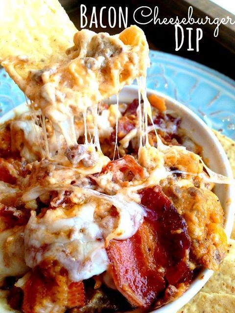 Low Carb Bacon Cheeseburger Dip (careful~ this is addicting!)