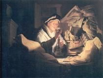 The Rich Man from the Parable - Rembrandt