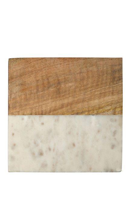 Image Of THIRSTYSTONE Marble U0026 Acacia Square Trivet